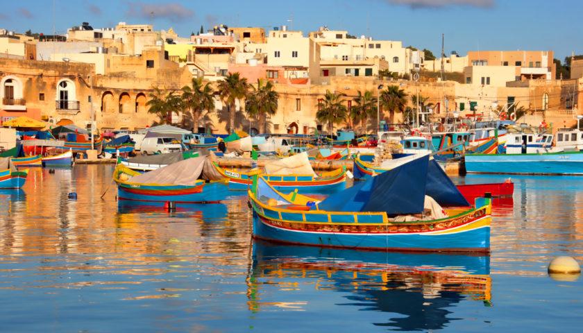Imagini din cantonamentul din Malta
